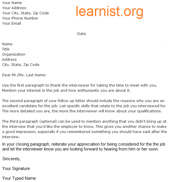 Follow Up Letter Template Examples Forums Learnist Org