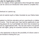 asda application letter - cover letter
