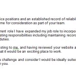 office manager cover letter job application example