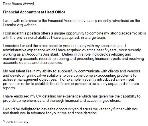 Accountant Cover Letter Example For Job Applications  LearnistOrg