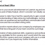 Data Analyst cover letter example