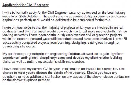 Civil Engineer Cover Lett.