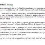 nurse nursing cover letter example