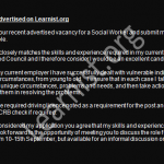 social worker job application cover letter example