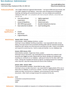 Administrator CV Template - Learnist.org