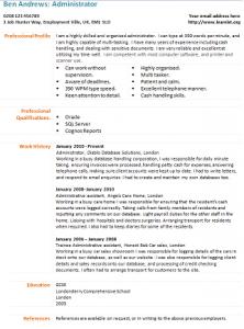 administrator cv template