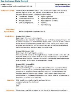 data analyst resume examples professional sql data analyst ...