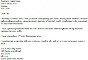 Cover letter job enquiry spiritdancerdesigns Gallery