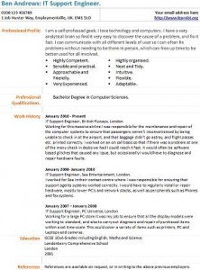 It Support Engineer Cv Example Learnist Org