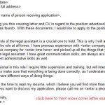 legal assistant job application letter