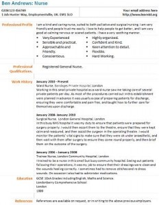 Nurse cv example learnist nurse cv example altavistaventures Choice Image