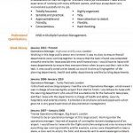 operations manager cv example