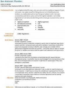 Plumber Cv Example Learnist Org