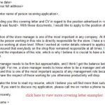 store manager job application letter examples