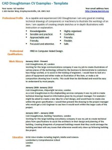 CAD Draughtsman CV Template - forums.learnist.org