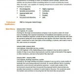 CAD Engineer CV Example