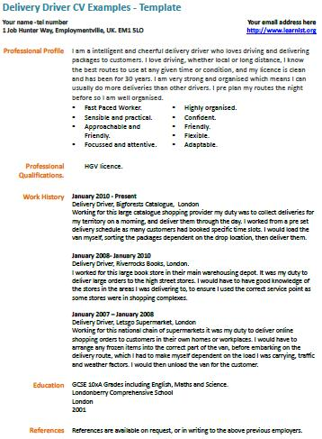 use free truck driver resume sample write professional start