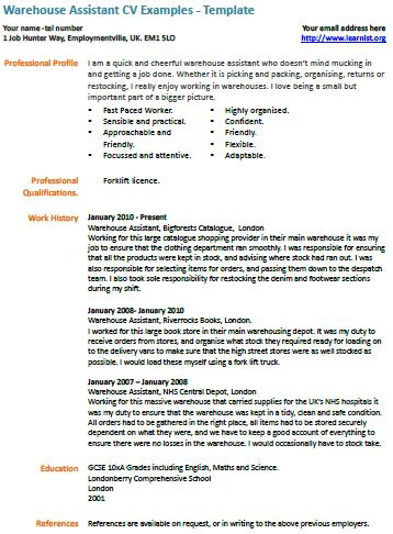 Cv Examples  Free And Fully Editable Cv Templates  LearnistOrg