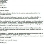 aircraft engineer cover letter example