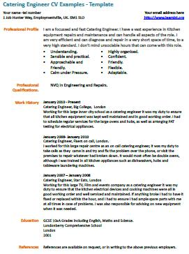 catering engineer cv example