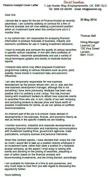 view more cover letter examples and cover letter templates - Cover Letter Examples Finance