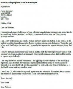 It Project Engineer Cover Letter