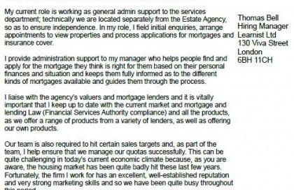 Loan Advisor Cover Letter