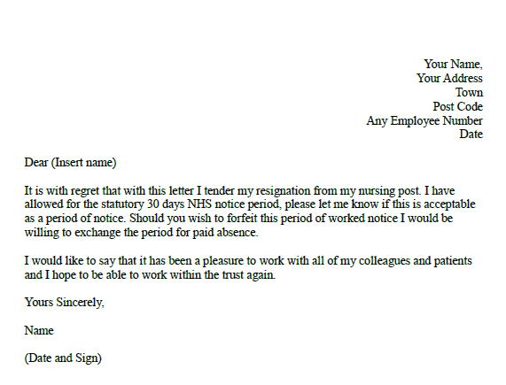 Formal Resignation Letter For Nurses Pdf