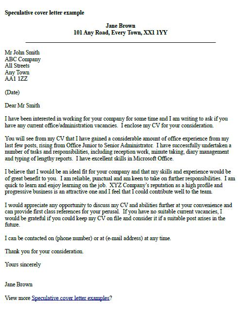 example speculative cover letter covering letter for teaching vacancy example covering 21594