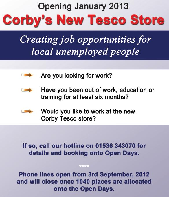 Tesco Jobs in Corby - Open Days - Learnist.org
