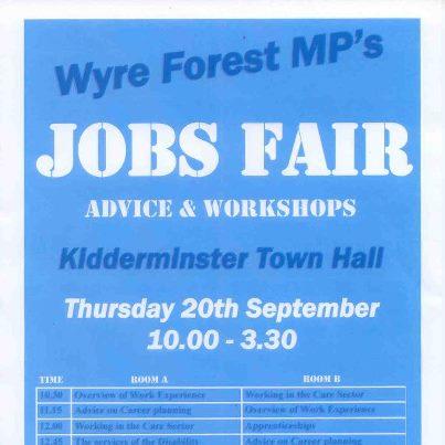 wyre forest jobs fair