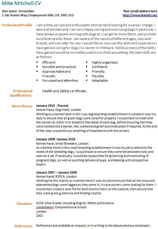 example of cover letter for change in career