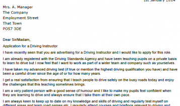 Driving Instructor Cover .