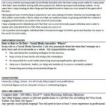 Social Media Specialist CV Example