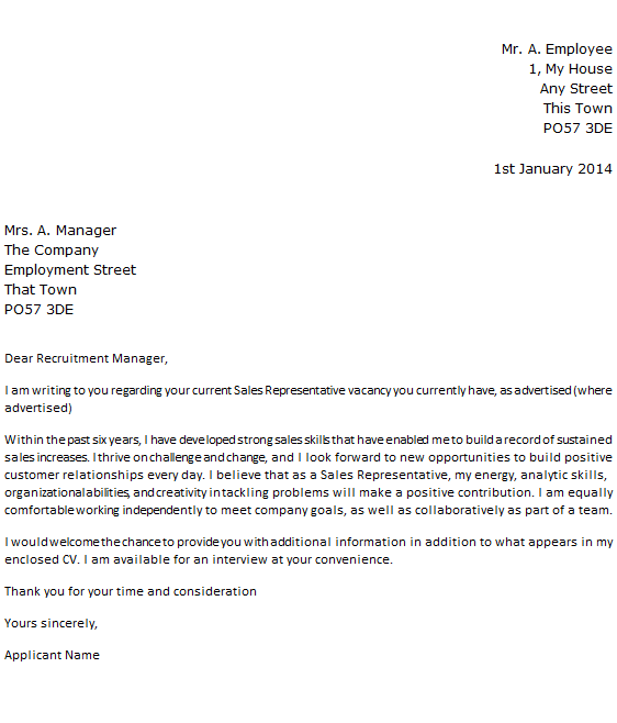 application letter for medical representative position Customer service representative cv template  tailoring it even further, right  down to a job role can be just the push your credentials need to land on the top of .