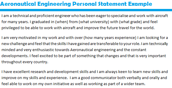 aeronautical engineering personal statement cambridge