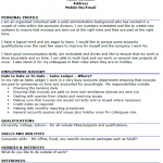 sales ledger executive cv example