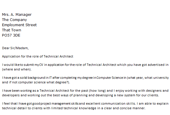 Intern Architect Cover Letter ...