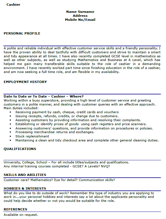 cashier cv example png dissertation proposal physical geography