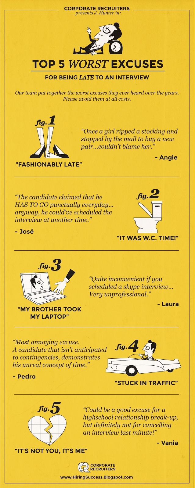 best excuse for being late The most common excuses for being late for work are not always the most   here are some of the best ones collected over the years.