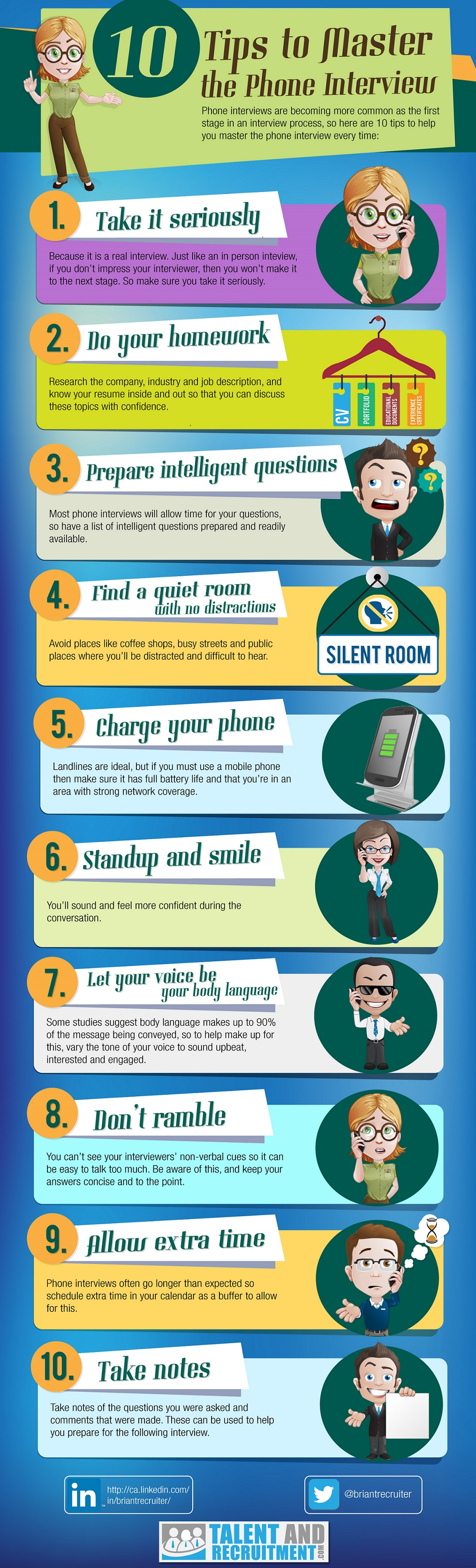 phone interview tips infographic
