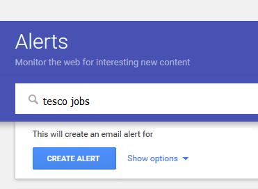 google alert jobs