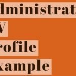 Administrator CV Profile Example