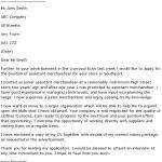 Assistant Merchandiser Cover Letter Example