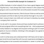 CV Personal Profile Example for Graduate