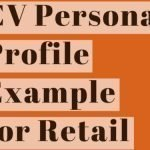 CV Personal Profile Example for Retail