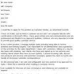 Customer Adviser Cover Letter Example
