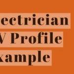 Electrician CV Profile Example