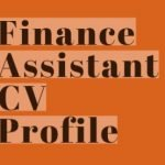 Finance Assistant CV Profile Example