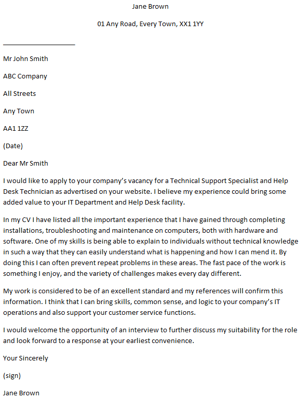Desktop Support Technician Cover Letter from www.learnist.org